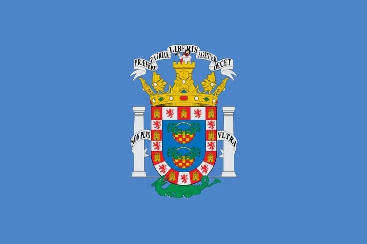Bandera de la Ciudad Autónoma de Melilla.