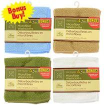 Bulk Home Collection Microfiber Washcloths, 4-ct. Bonus Packs at DollarTree.com