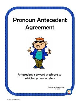 27 best Pronoun-Antecedent Agreement images on Pinterest | Grammar ...