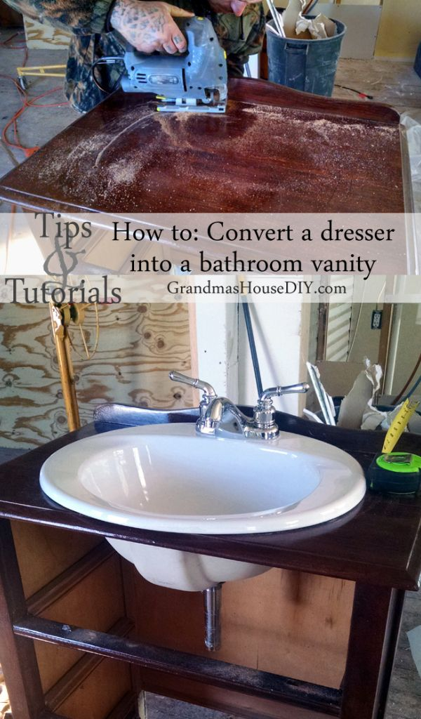 How to convert a dresser into a vanity