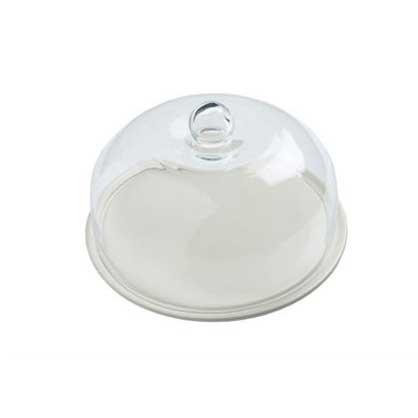 Kak-/ostfat med Glaskupol, Gräddvit - Nigella Lawson