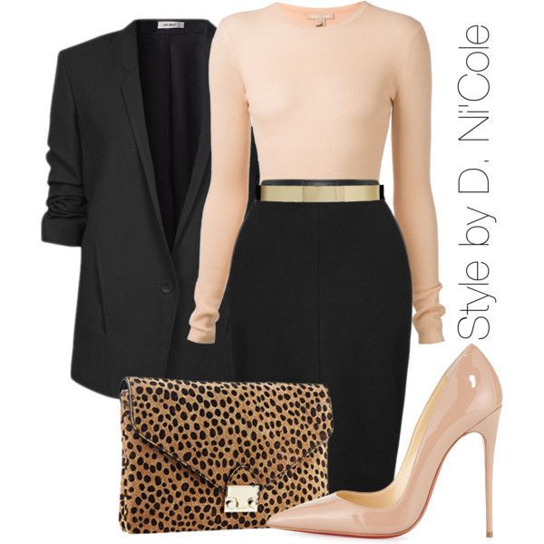A fashion look from November 2014 featuring Michael Kors sweaters, Helmut Lang blazers and Christian Louboutin pumps. Browse and shop related looks.  Diese und weitere Taschen auf www.designertaschen-shops.de entdecken