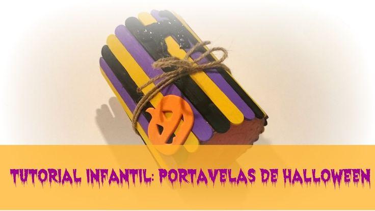 Tenemos nuevo video tutorial: Portavelas infantil para Halloween con palitos de madera  #manualidades #halloween #decoracion #diy #handmade #infantil #crafts