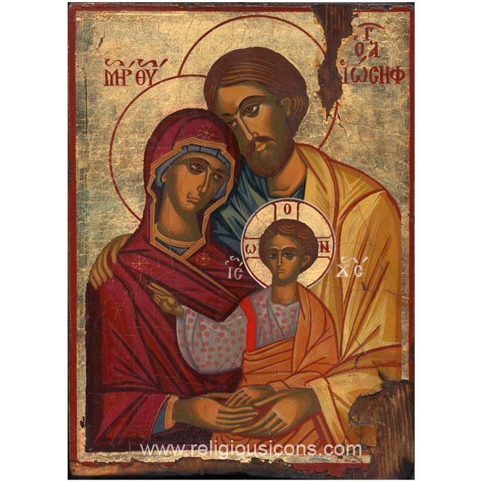 Hand Written Icon of Holy Family