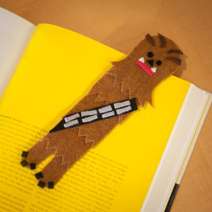 How could your bookmark be better? Easy -- if it was a Wookiee. Learn to make one this Star Wars Day.