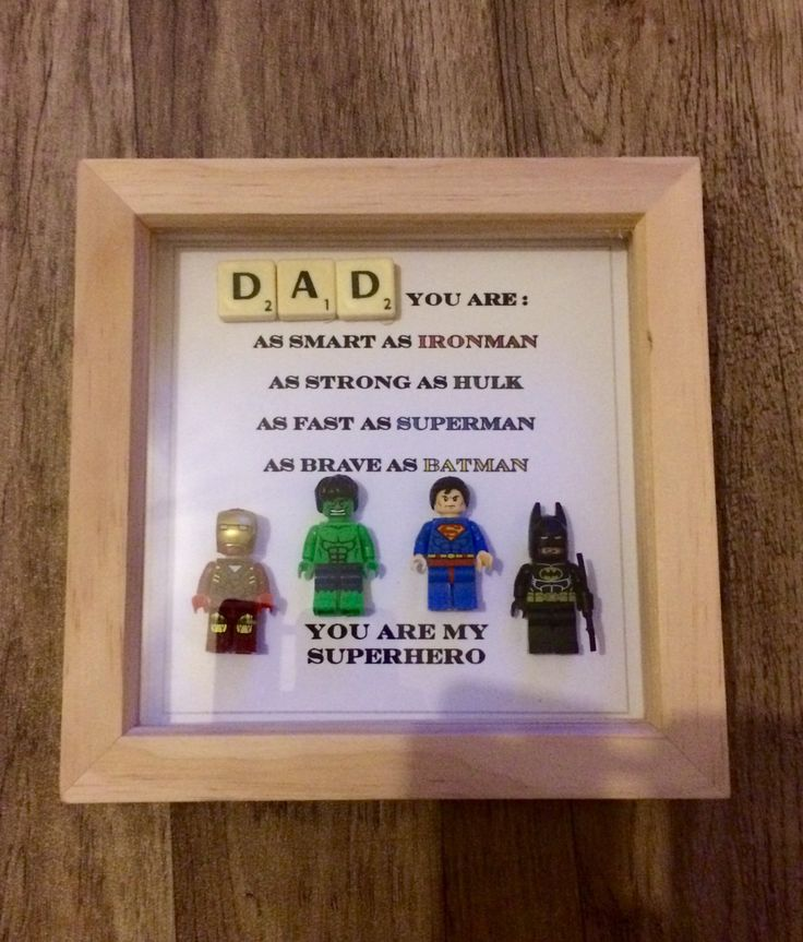 dad superhero box frame by figureframes on etsy
