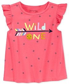 First Impressions Baby Girls' Wild One T-Shirt, Only at Macy's