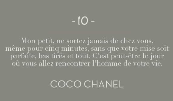 Citation Coco Chanel ♡