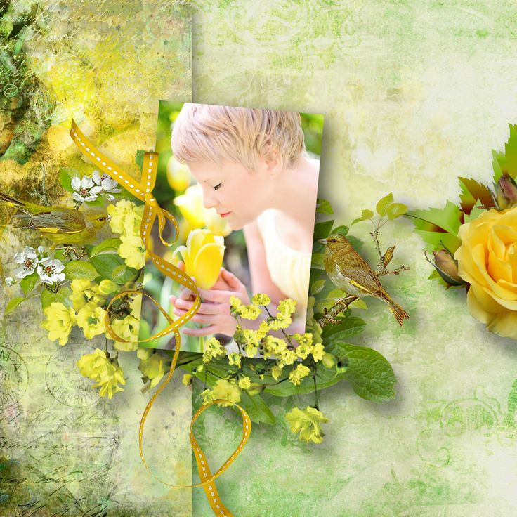 """""""Yellow Rose"""" by Scrapbookingdom, https://www.etsy.com/au/listing/566105791/yellow-rose-digital-scrapbooking-kit?ref=shop_home_active_1, photo Pixabay"""