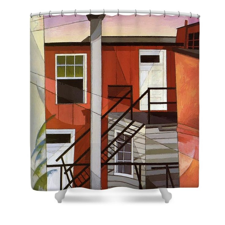 Modern Shower Curtain featuring the painting Modern Conveniences 1921 by Demuth Charles