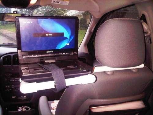 diy portable dvd player car mount road trip pinterest. Black Bedroom Furniture Sets. Home Design Ideas