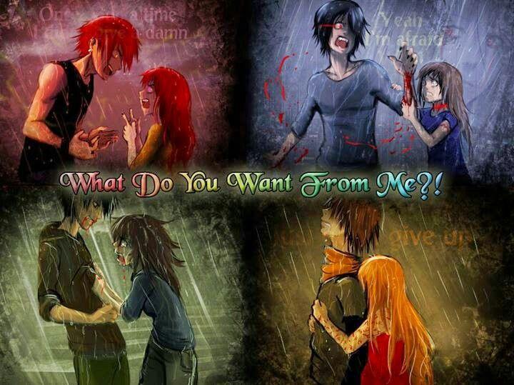 Mars x Killmi,  Aki x Marika,  Ashura (?) x Shine,  Matt x Eva  the Racist,  pentagram Alchemist,  hit me/kick me,  exitus letalis