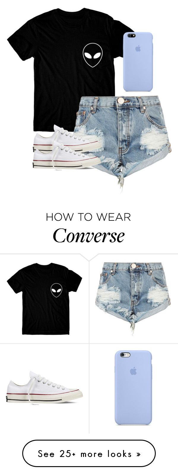 """Out to eat with friends"" by melw44 on Polyvore featuring One Teaspoon and Converse"