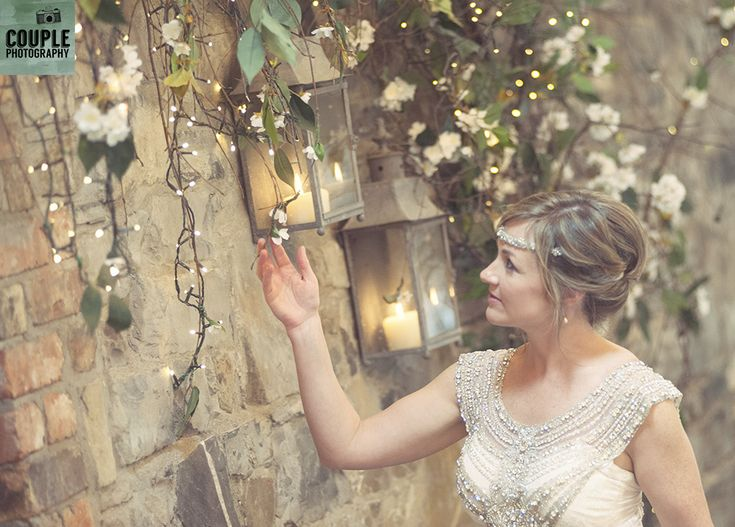 admiring the details. Weddings at Ballymagarvey Village photographed by Couple Photography.