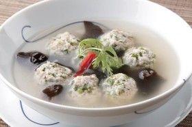 ☆ナンプラー☆パクチー入り肉団子のスープ