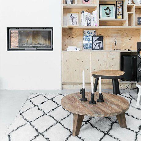 HK-living Teppich Läufer Berber mit Fransen Baumwolle schwarz weiß Rautenmuster 180x280cm
