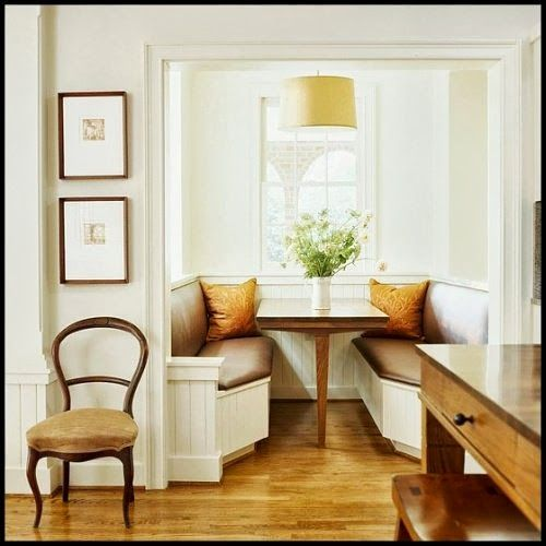 Booth or counter booth please great dining nook in kitchen great kitchens pinterest - Kitchen nook booth ...