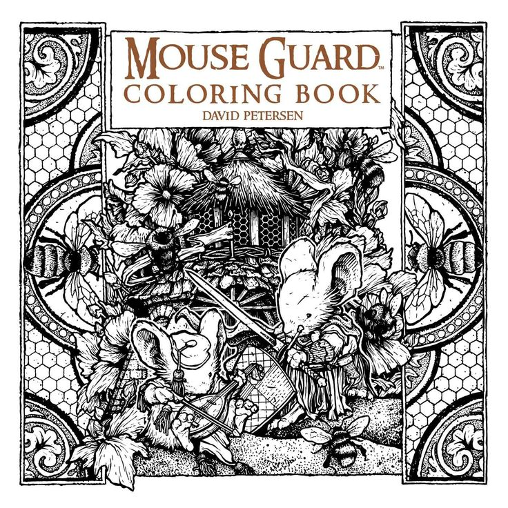 Mouse Guard Coloring Book By David Petersen English Paperback