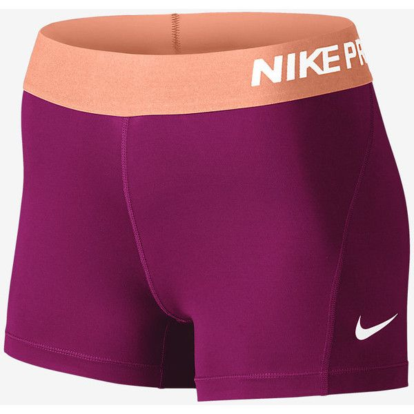 "Nike Pro Women's 3"" Training Shorts. Nike.com ($28) ❤ liked on Polyvore featuring activewear, activewear shorts, nike sportswear, nike and nike activewear"