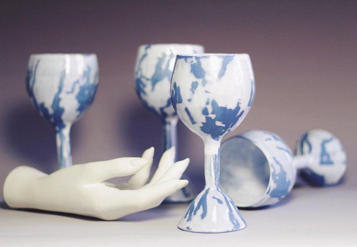 https://www.instagram.com/p/BQnxDPOD7XE/ #ceramics #polyankaceramics #glasses #wineglass #glassceramics #art #handmade #clay #ceramicworks #creative #ceramicglaze #glaze #botz #saintpetersburg