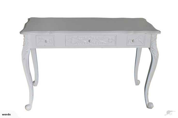 French Ladies Desk in White or Black Distress | Trade Me