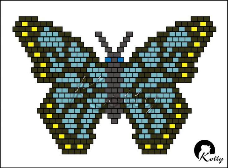 """Gallery.ru / Схема к кольцу """"Бабочка"""" - Авторские (самодельные ;) ) схемы. - Kotty"""