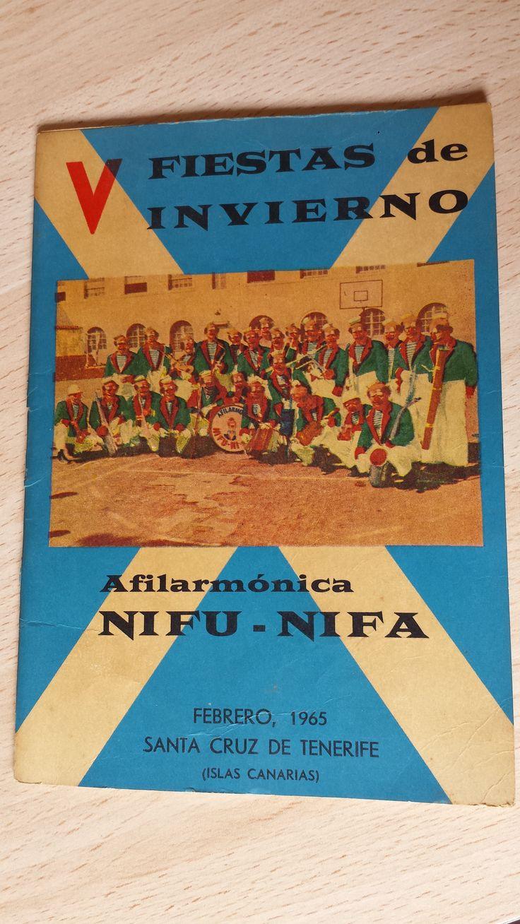 Cancionero Nifú nifá año 1965. Carnaval de Santa Cruz de Tenerife