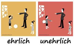 ehrlich unehrlich Adjektive Deutsch deutschlernerblog