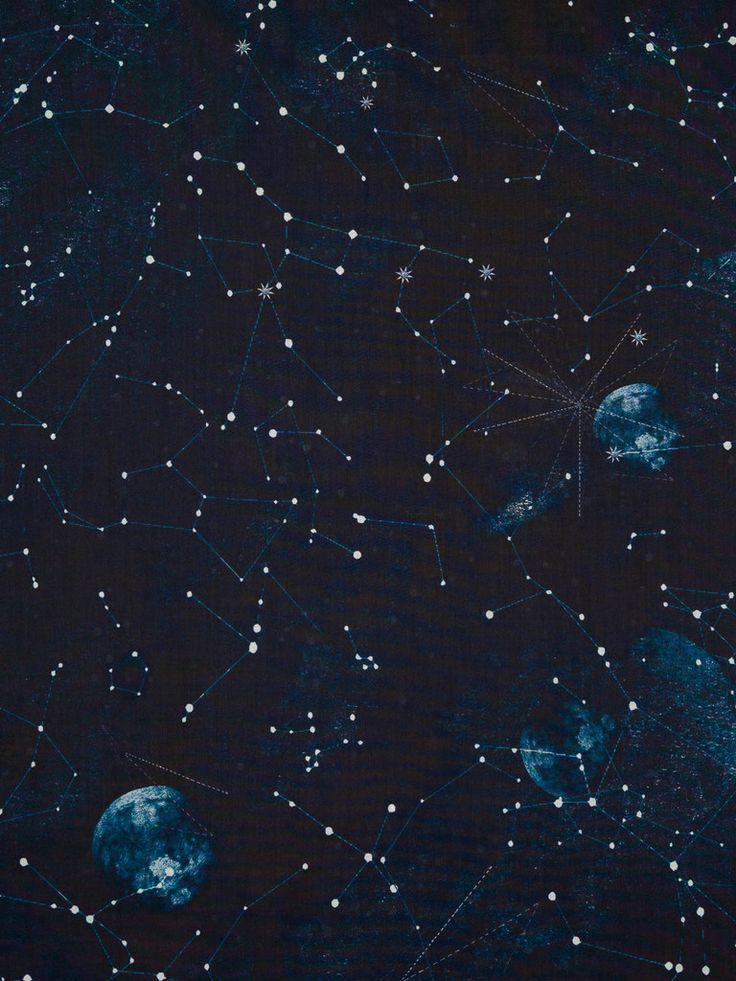 Lightweight 100% cotton shirting fabric. Constellations ...