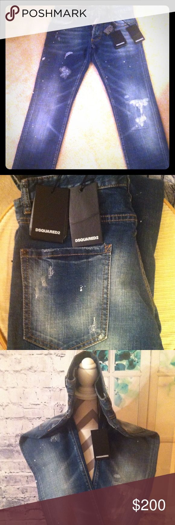 DSQUARED2 Men Slim Jean size 32 A brand new pair of DSQUARED2 Slim Jeans for Men pants, never worn!! It's made from Italy and Authentic!! DSQUARED2 Jeans