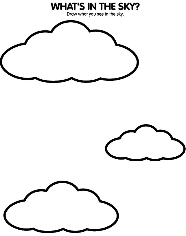 S is for sky coloring page