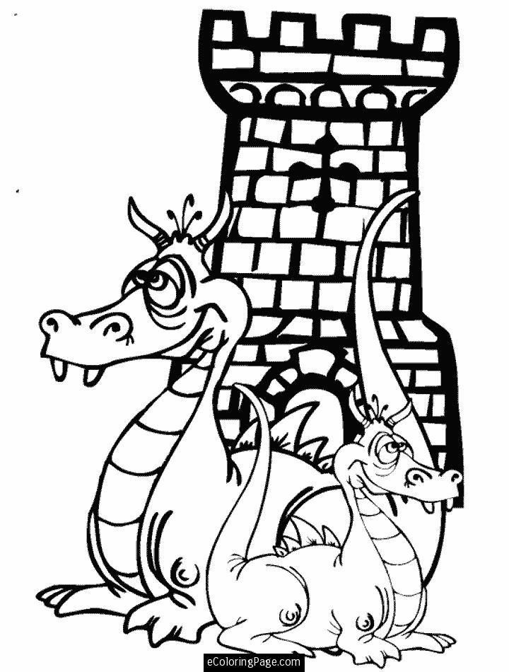 Castle Coloring Pages Printables