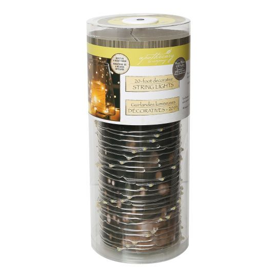 Apothecary & Company Silver Decorative Micro LED String Lights, 20 ft. Apothecaries, Wedding ...