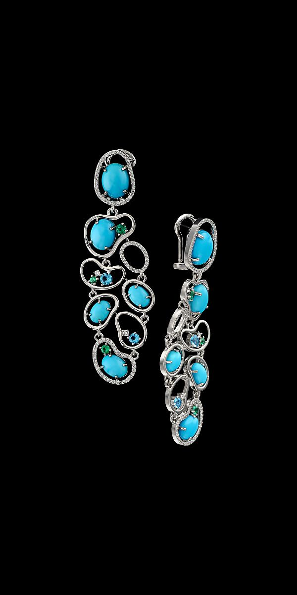 68 best Sleeping Beauty Turquoise earring designs images on