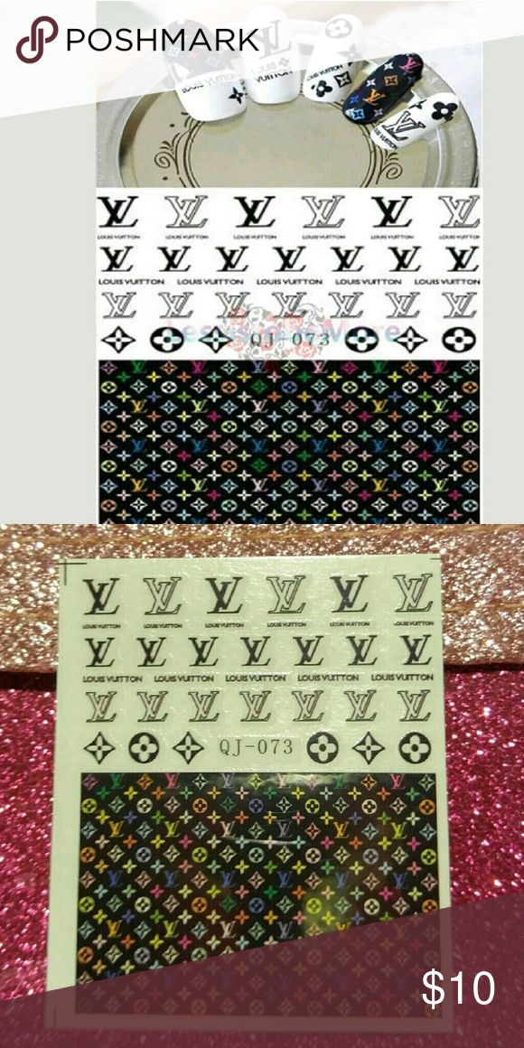 Nail art decals Nail art decal sheet. Great accent to any nail!! Just look at my profile pic! Decal is easy to install. They slide off with water. I love these!! Accessories