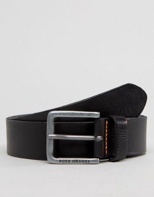 BOSS Orange by Hugo Boss Jeek Leather Jeans Belt Black