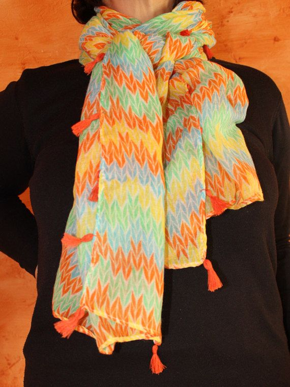 Gift for ChristmasColourful scarfclothing giftPrinted