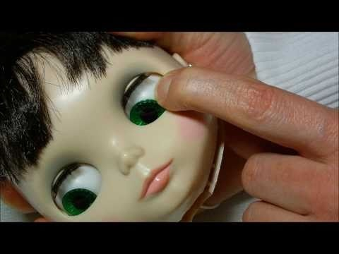 How to Blythe doll head opening, eyes up gaze correction tutorial full HD video