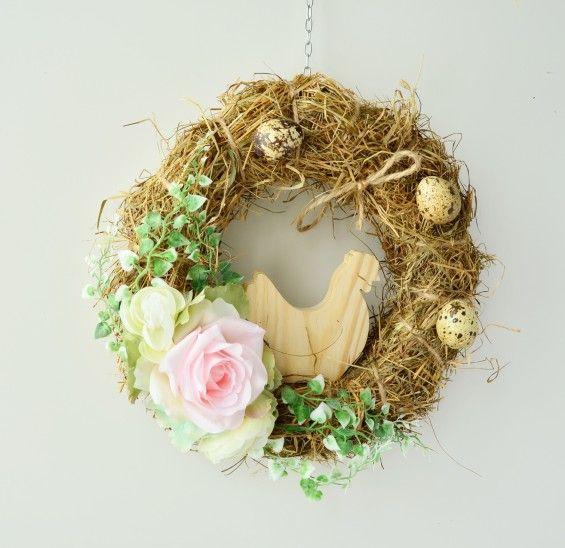 Wianek Wielkanocny Ze Slomy Grapevine Wreath Wreaths Grape Vines