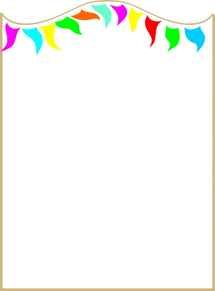 illustration of a blank frame border with colorful