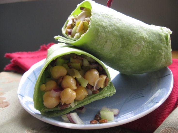 Easy Chickpea Salad Wrap   Food   Pinterest