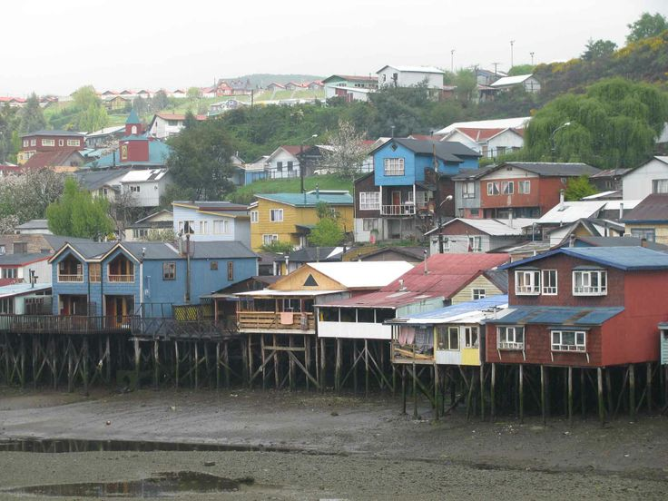 Los Palafitos de Castro, Chiloé. // The stilted houses in Castro, Chiloé. (X Región)