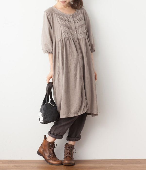 One Piece - by product color linen 9] published Mon (A · sand beige) cotton lace open before switching