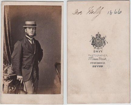 Carte de Visite, published by Davy, Stonehouse, Devon
