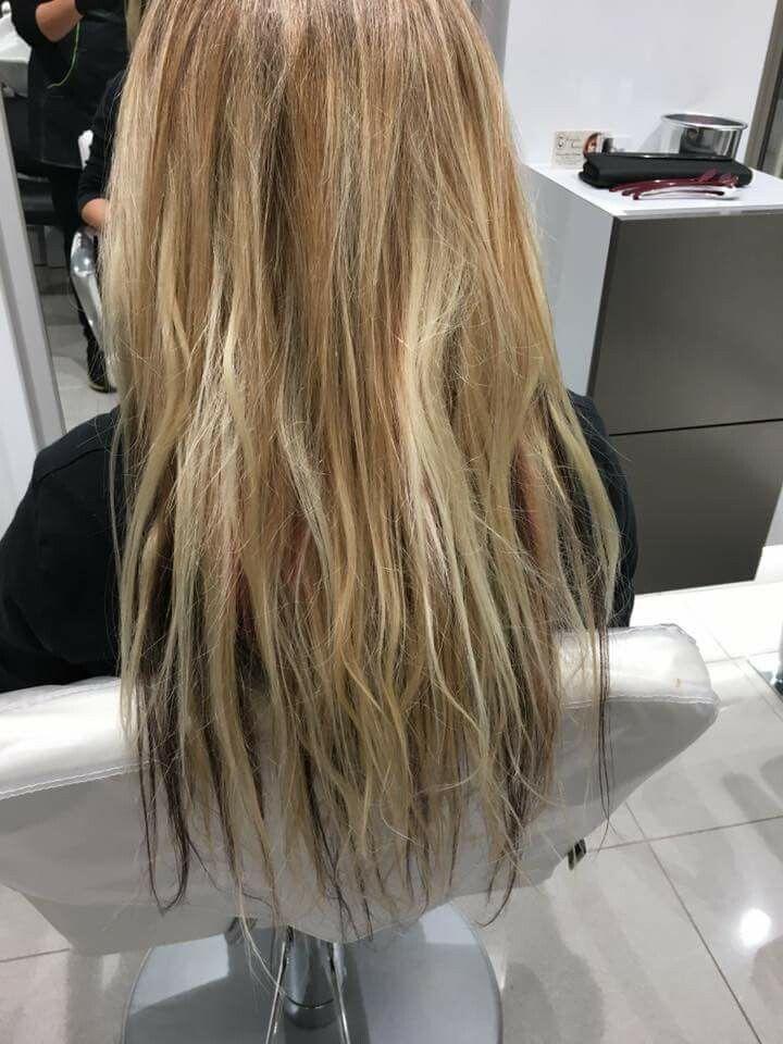mi lavoro extension capelli montate #yaquelin2016 #hairstylist #extension #capelli cliente Jessica