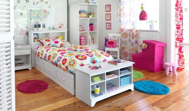 Dormitorio niña #Pieza #Dormitorio #habitación #muebles #flores  Mi