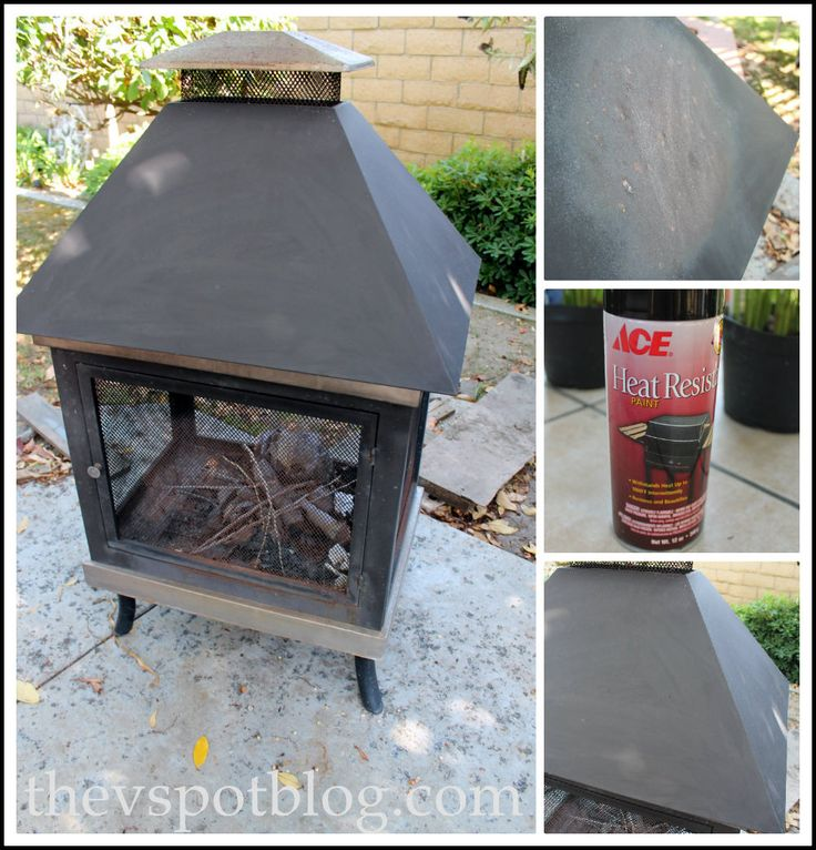 Freshen up a fire pit with high heat spray paint ... thevspotblog