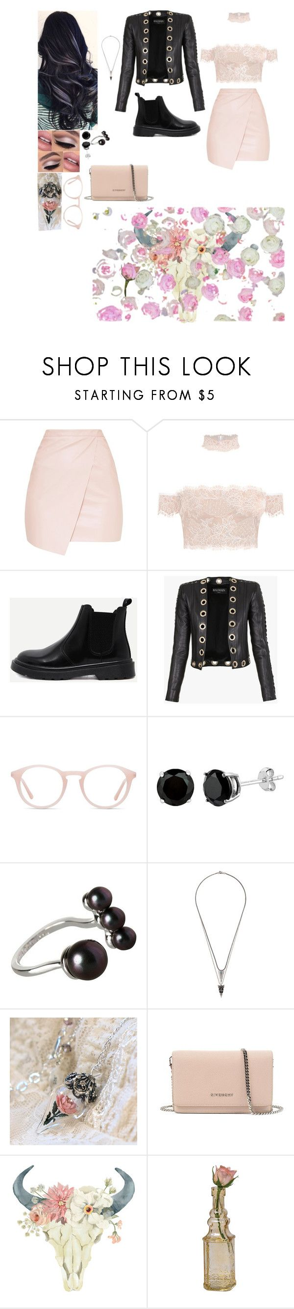 """Outfit"" by gabymyredis ❤ liked on Polyvore featuring Balmain, Ace, BCBGeneration, Topman, Givenchy, WALL and Cultural Intrigue"