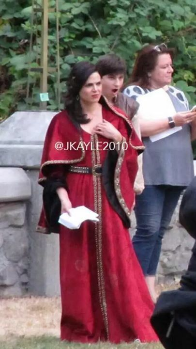 Awesome Lana and Jared (Regina and Henry) #Once #BTS the awesome Once S5 E5…