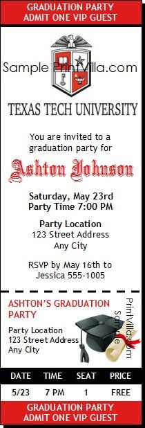 When to mail graduation invitations newsinvitation texas tech graduation party invite 1 more year and these or something like it will be filmwisefo
